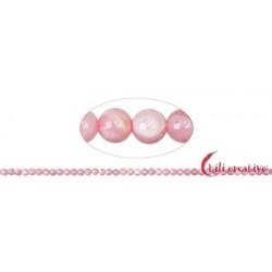 Strang Kugeln Opal Andenopal pink 4 mm