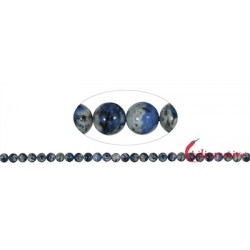 Strang Kugeln Azurit in Gneis (K2) 6-7 mm