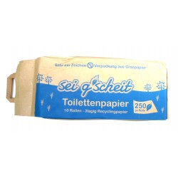 sei g´scheit WC-Papier im Graspapiersack 10x250 Blatt, 3 lagig, Recycling
