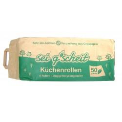 sei g´scheit Küchenrolle im Graspapiersack 6x50 Blatt, 2 lagig, Recycling