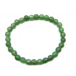 Kugel-Armband Aventurinquarz grün facettiert 6 mm