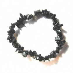 Splitter-Armband Achat schwarz gefärbt