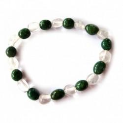 Nugget-Armband klein Mix Bergkristall Aventurinquarz grün