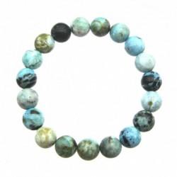 Kugel-Armband Opal blau 10 mm