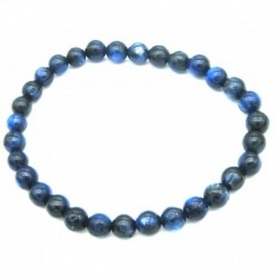 Kugel-Armband Disthen blau 6 mm