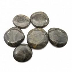 Scheibenstein Marmor Stromatolith grau 3 - 4 cm 1 Stück