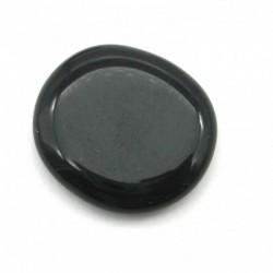 Scheibenstein Obsidian schwarz 2,5 - 3 cm 1 Stück