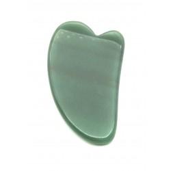 Gua Sha Aventurinquarz grün 7.5 x 4.5 cm