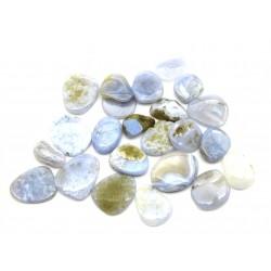 Scheibenstein Chalcedon blau VE 500 g