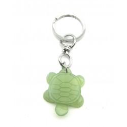 Schlüsselanhänger Schildkröte Serpentin grün