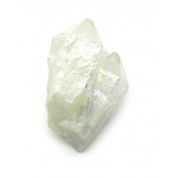 Rohstein Gruppe Angel Aura (Bergkristall bedampft) 4-5 cm