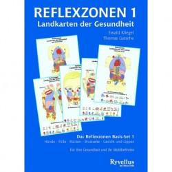 Kliegel, Ewald: Reflexzonentafeln Set 1 (Hände, Füße, Rücken, Brust & Gesichtmit Begleitheft)