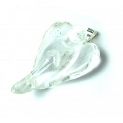 Engel-Anhänger Bergkristall 3,5 cm Metall-Öse