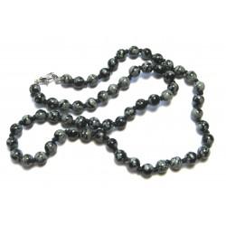 Kugel-Kette Obsidian Schneeflockenobsidian 6/45