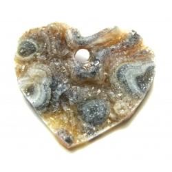 Herz frontgebohrt Achat Druse 35 mm