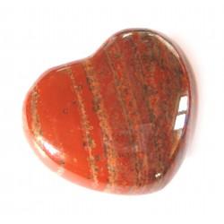 Herz Jaspis rot 35 mm