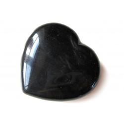 Herz Obsidian schwarz 35 mm
