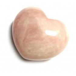 Herz Rosenquarz 55 mm bauchig