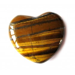 Herz Tigeraugenjaspis 55 mm bauchig