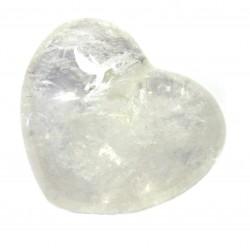 Herz Bergkristall 55 mm bauchig