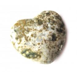 Herz Ozean-Achat (Chalcedon) 55 mm bauchig