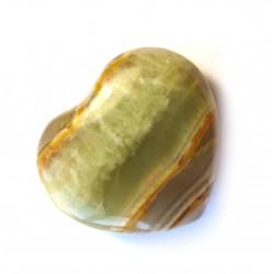 Herz Aragonit-Calcit grün-braun 75 mm
