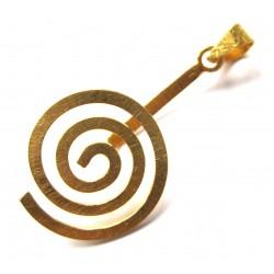 Donut-Spirale Rund Silber vergoldet (matt) groß 50 mm