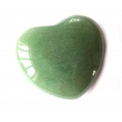 Herz Aventurinquarz grün 45 mm bauchig