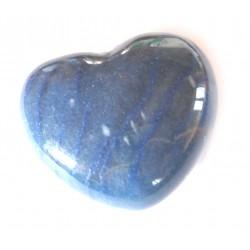 Herz Blauquarz 45 mm bauchig