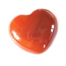 Herz Carneol (erhitzt) 45 mm bauchig