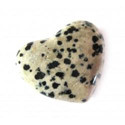 Herz Dalmatinerstein (Aplit) 45 mm bauchig