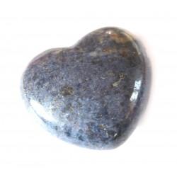 Herz Dumortieritquarz 45 mm bauchig