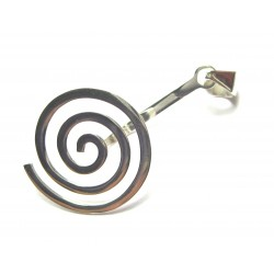 Donut-Spirale Rund Silber groß 50 mm