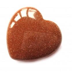 Herz Goldfluss (Kunstglas) 38 mm