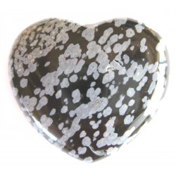 Herz Obsidian Schneeflocke 45 mm bauchig