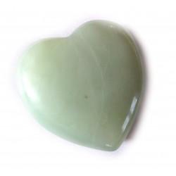 Herz Serpentin grün 55 mm bauchig