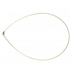 Omega Reif 1 mm 40 cm 925er Silber vergoldet