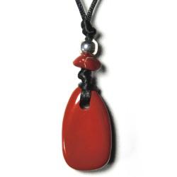 Kraftstein-Anhänger Jaspis rot