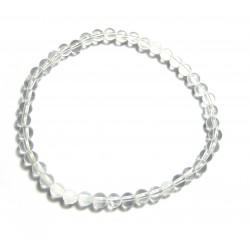 Kugel-Armband Bergkristall 4mm