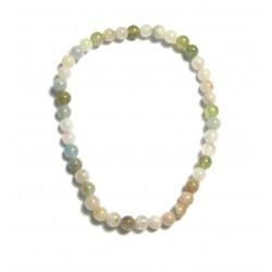 Kugel-Armband Beryll rosa-grün-blau 4 mm