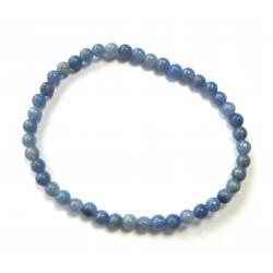 Kugel-Armband Blauquarz 4 mm