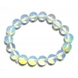 Kugel-Armband Opalglas (Kunstglas) 10 mm