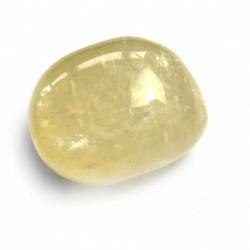 Trommelstein Calcit Hellgelb kristallin 1 Stück