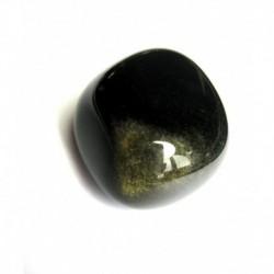 Trommelstein Obsidian Gold- A 1 Stück