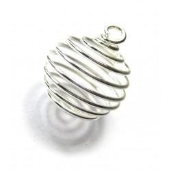 Metall-Spirale groß 2,8 cm silberfarben VE 50 Stück