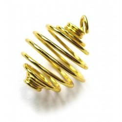 Metall-Spirale mini 1,2 cm goldfarben VE 50 Stück