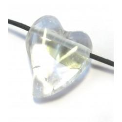 Swing Herz gebohrt Bergkristall 32 mm