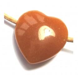 Herz gebohrt Aventurinquarz orange 25 mm