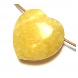 Herz gebohrt Calcit orange 35 mm