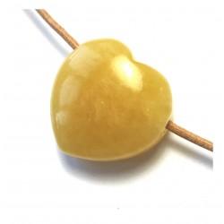 Herz gebohrt Calcit orange 30 mm